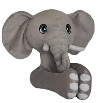 Amazon Com Curtain Critters Algyel060809set Plush Safari Elephant