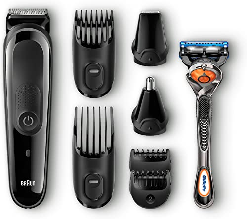 3. Braun MGK3060-8-in-One Multi Grooming Trimmer Kit