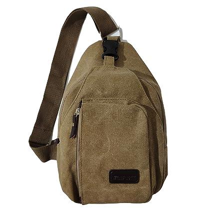 adfde9a17a83 Outdoor Sports Casual Canvas Unbalance Backpack Crossbody Sling Bag  Shoulder Bag Chest Bag for Men