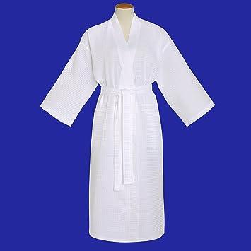 Amazon.com   67% Cotton 33% Poly Lightweight White Basic Waffle Kimono  Bathrobe   Bath And Shower Product Sets   Beauty 834db8446