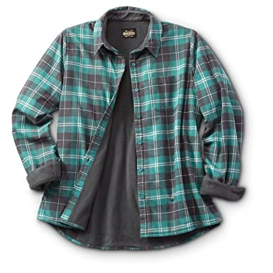 3d5af193c Guide Gear Women's Fleece-Lined Flannel Shirt at Amazon Women's Clothing  store: