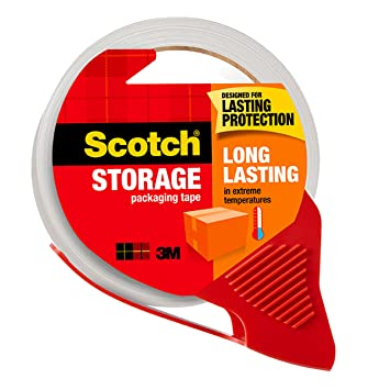 Amazon Scotch Long Lasting Storage Packaging Tape With Dispenser 188 In X 382 Yd 1 Pack Packing Office Products
