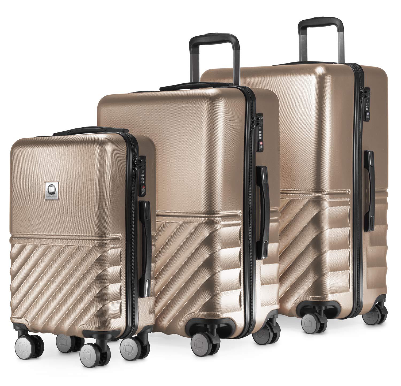 HAUPTSTADTKOFFER Argent Boxi SET DE 3 29 liter Bagages Cabine /à Main Valise Rigide