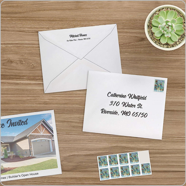 A2 Columbian Invitation Envelopes 100 Per Box White 4-3//8 x 5-3//4 Inches CO198