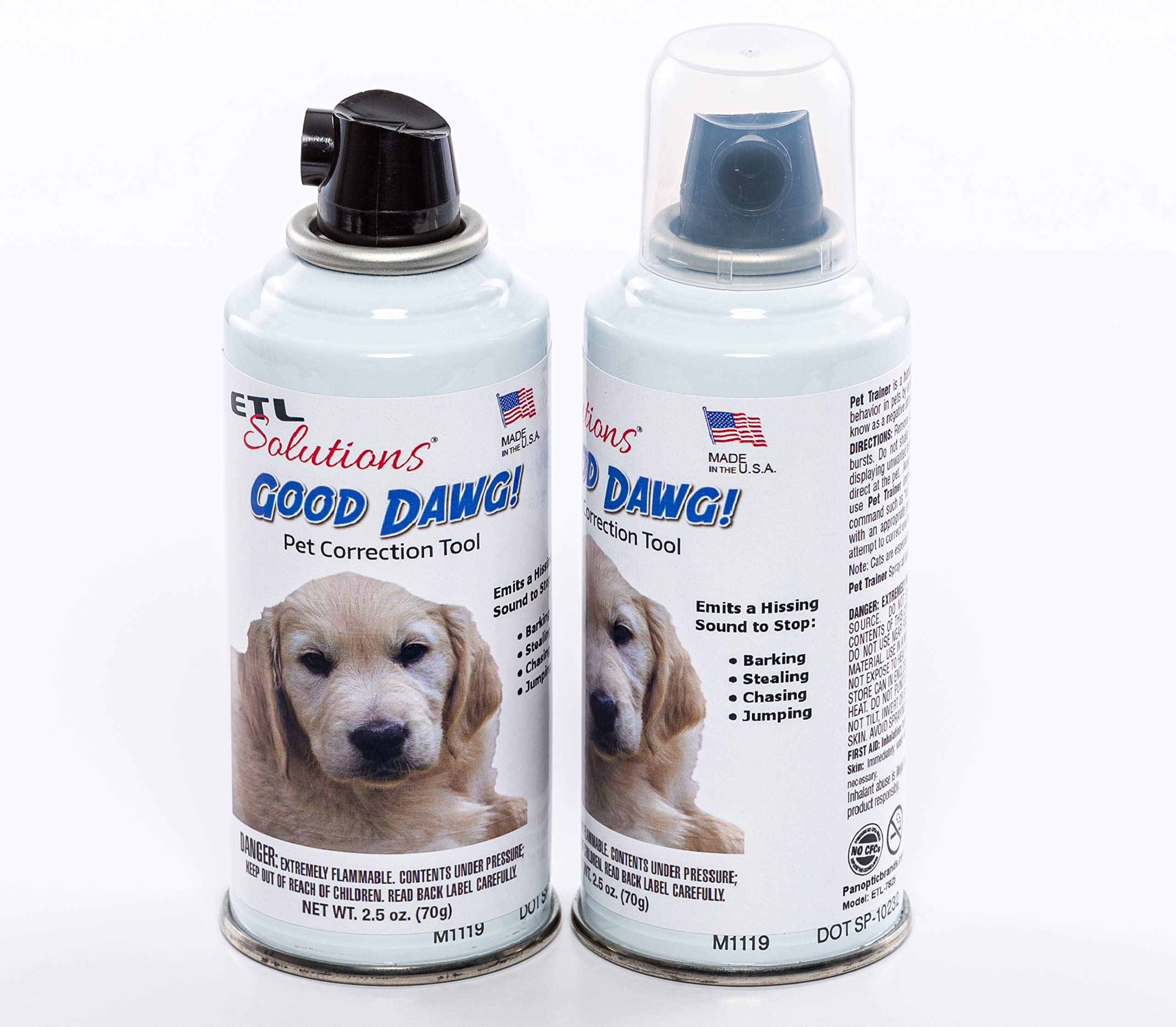 ETL Solutions 2.5oz(75ml) Good Dawg Sonic Pet Correction Spray - Humane Non Shock Hand Held Dog Training Device - Value 2 Pack! by ETL Solutions
