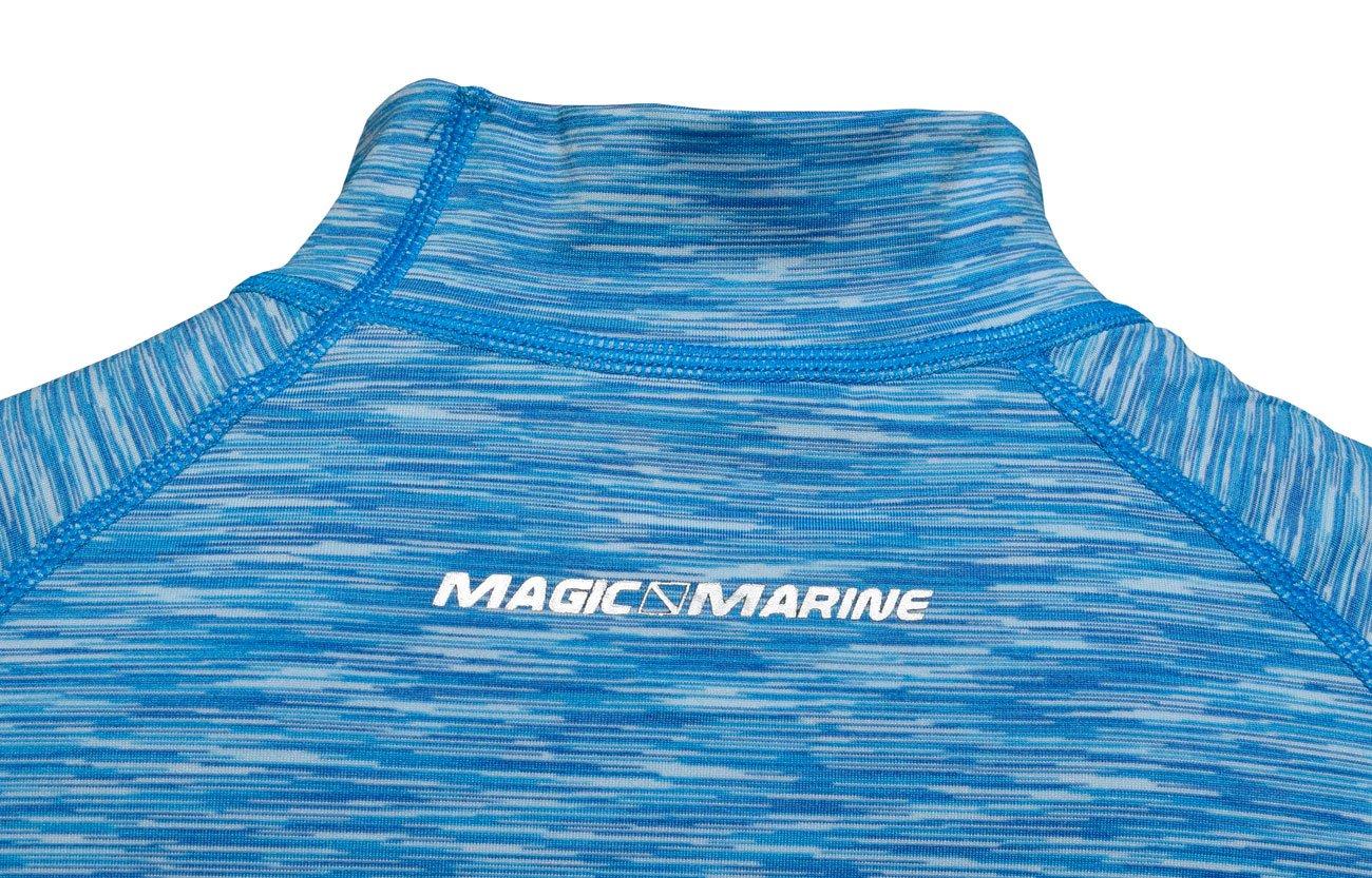 Magic Marine Womens Cube Short Sleeve Rashvest 2017 Flash Blue