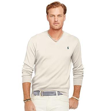 Ralph Lauren Jersey Pima V-Neck Hommes  Amazon.fr  Vêtements et accessoires 1dd5bb5df25