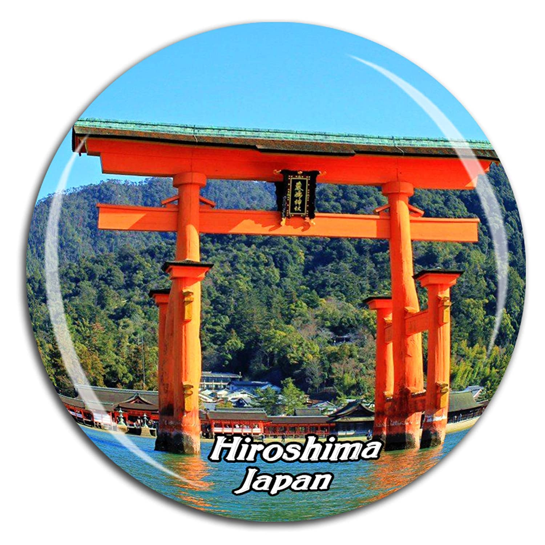 Itsukushima Shinto Shrine Hiroshima Japan Fridge Magnet 3D Crystal Glass Tourist City Travel Souvenir Collection Gift Strong Refrigerator Sticker