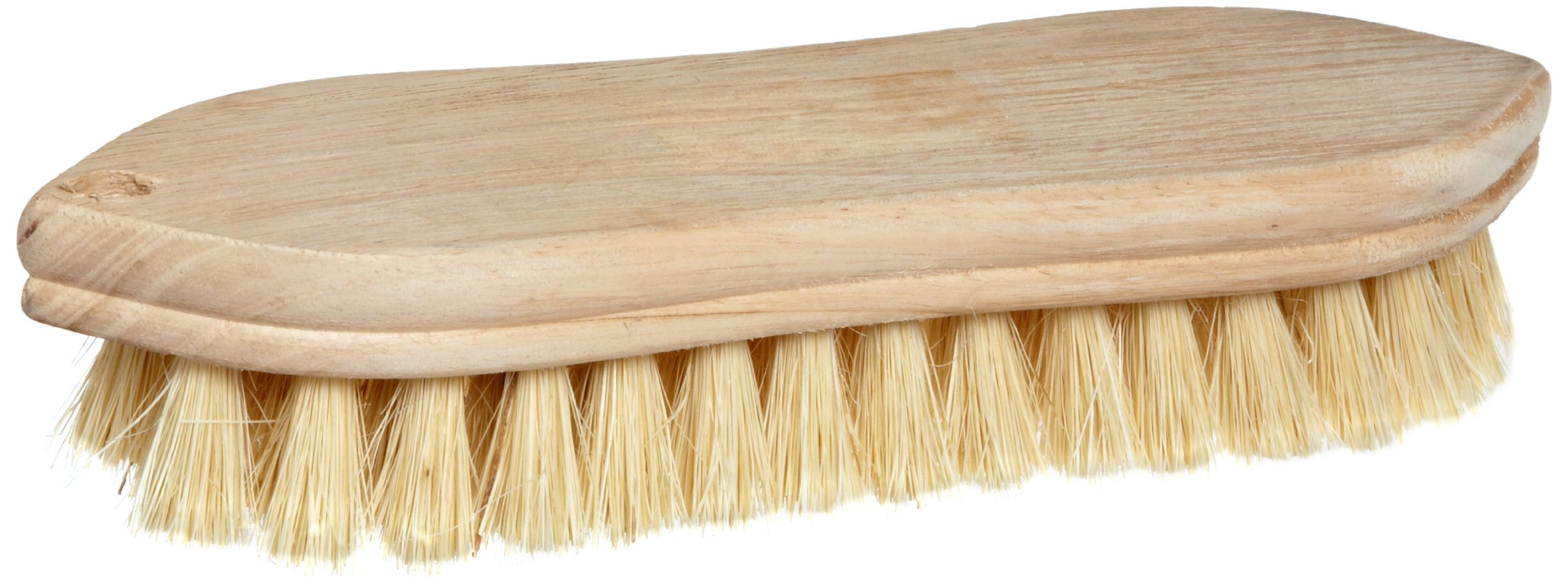 Weiler 9'' Block Size, White Tampico Fill, Pointed Wood Block, Hand Scrub Brush