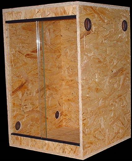 Terrario 40 x 40 x 60, OSB, ventilación laterales: Amazon.es: Productos para mascotas