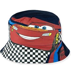 de10e170d63 Disney Pixar Cars Official Boys Bucket Hat Reversible Caps Summer Sun Hats  - Red 54