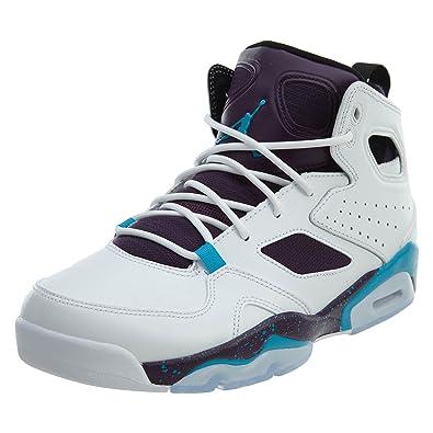 0d6b6d7ebbd Jordan Mens Flight Club 91 White Blue Lagoon Purple Black Size 13
