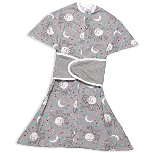 SleepingBaby Goodnight Moon Zipadee-Zip & Snuggle Strap Bundle