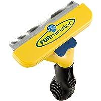 FURminator deShedding Hunde-Pflegewerkzeug zur Fellpflege/Hundebürste in Größe L zur gründlichen Entfernung von Unterwolle und losen Haaren - für kurzhaarige Hunde