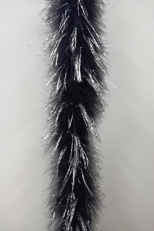 2 Yards Black Full Marabou Feather Boa