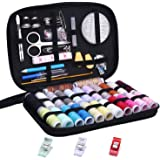 Sewing Kit,Over 100 JKtown Portable Basic Sewing Accessories, 24 Color Spools of Thread, Mini sew kits supplies for Beginners,Traveller,Emergency,Family starter to Mending and Repair
