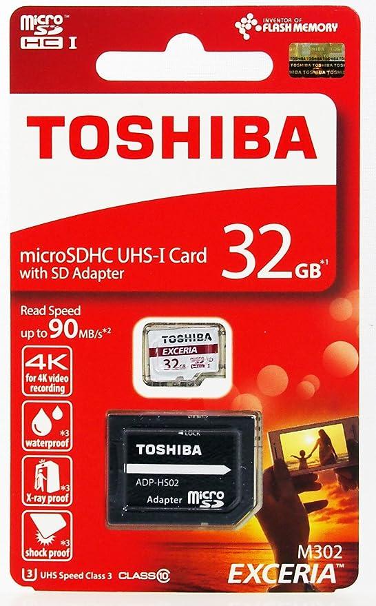 Toshiba THN-N203N0320E4 32GB N203 Class 10 U1 100MB//s SD Card with Adapter