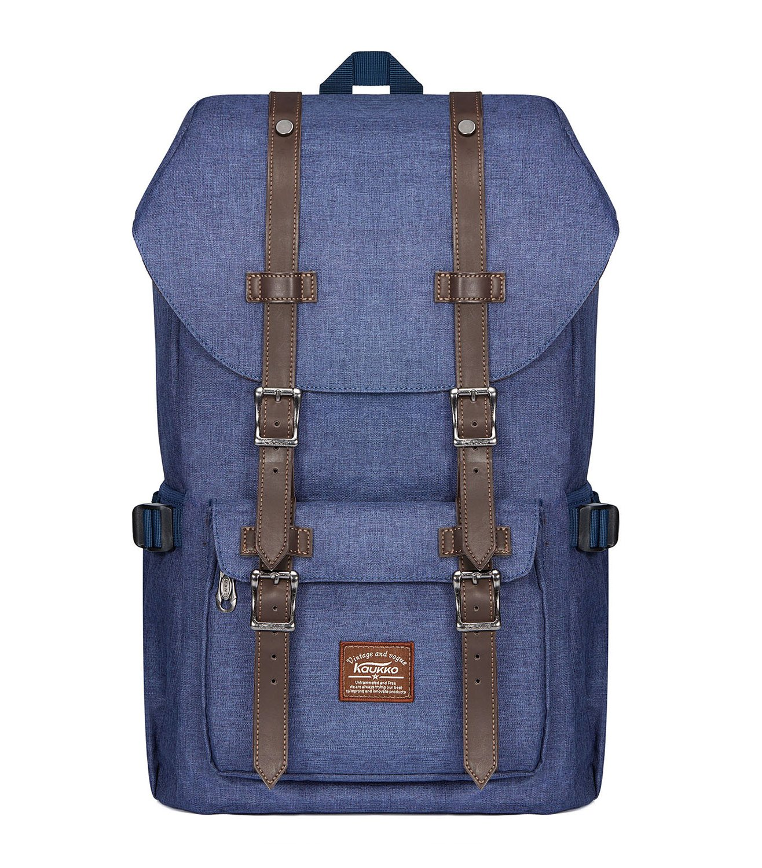 Laptop-Rucksäcke Damen Herren KAUKKO Backpack 18 Zoll Laptop Rucksack Schulrucksack für 17 Notebook Lässiger Daypacks Zhibiao Huang KC01-Black