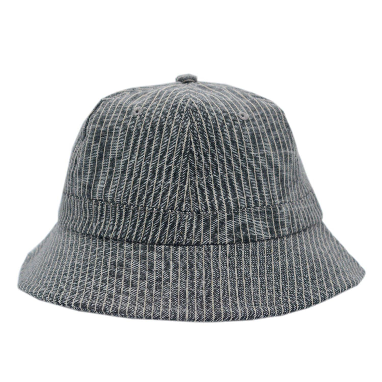 JEDAGX Unisex traspirante cappello da sole in cotone a righe cappello pescatore protezione UV per le vacanze all'aperto. Cappello da pesca pieghevole pescatore da spiaggia per pescatore58cm