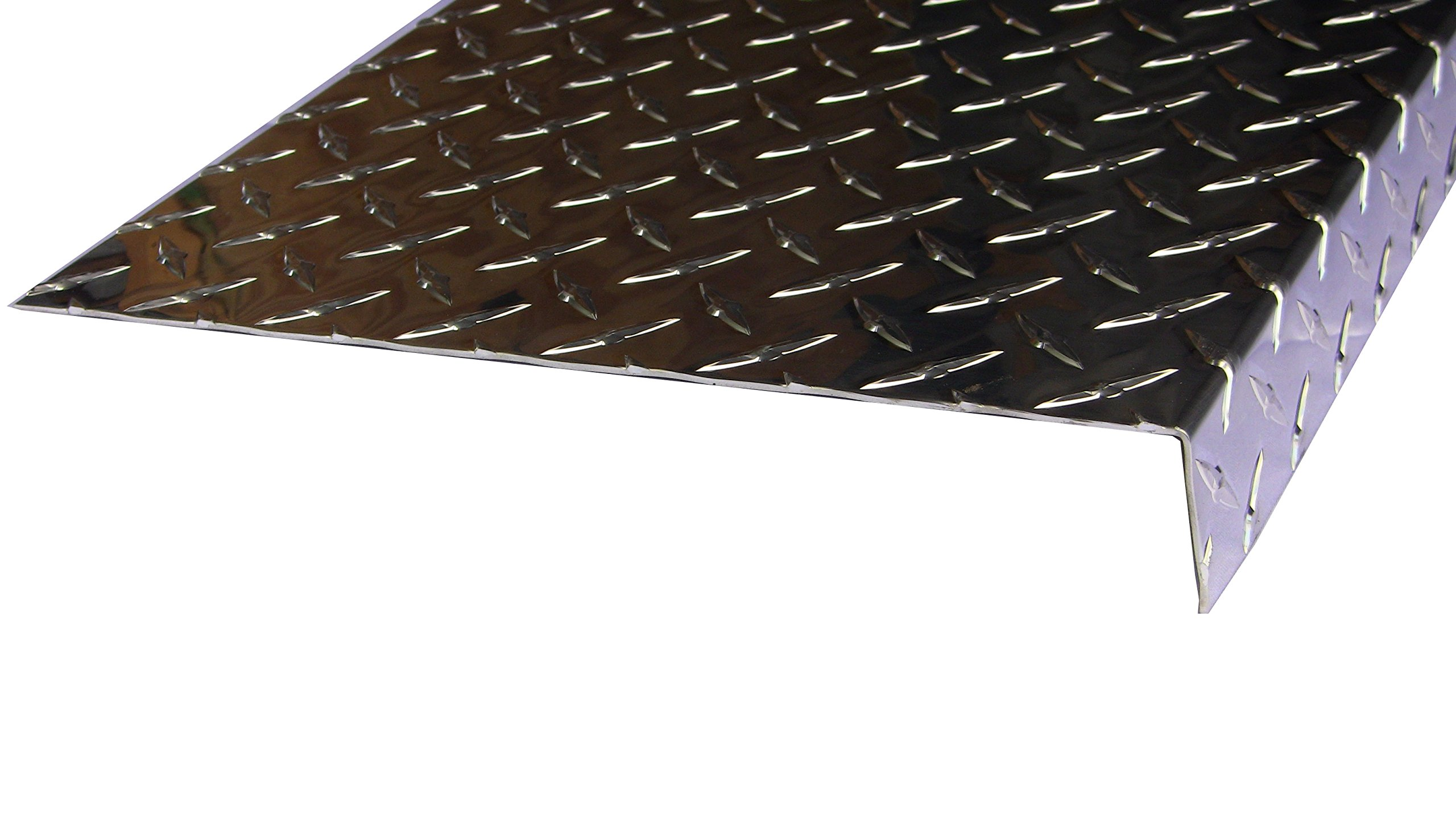 Aluminum Diamond Plate Door Threshold .062 x 1.5 x 10.88 x 36 in. w/out screws and holes | (1/16 x 1-1/2 x 10-7/8 x 36 in.) UAAC