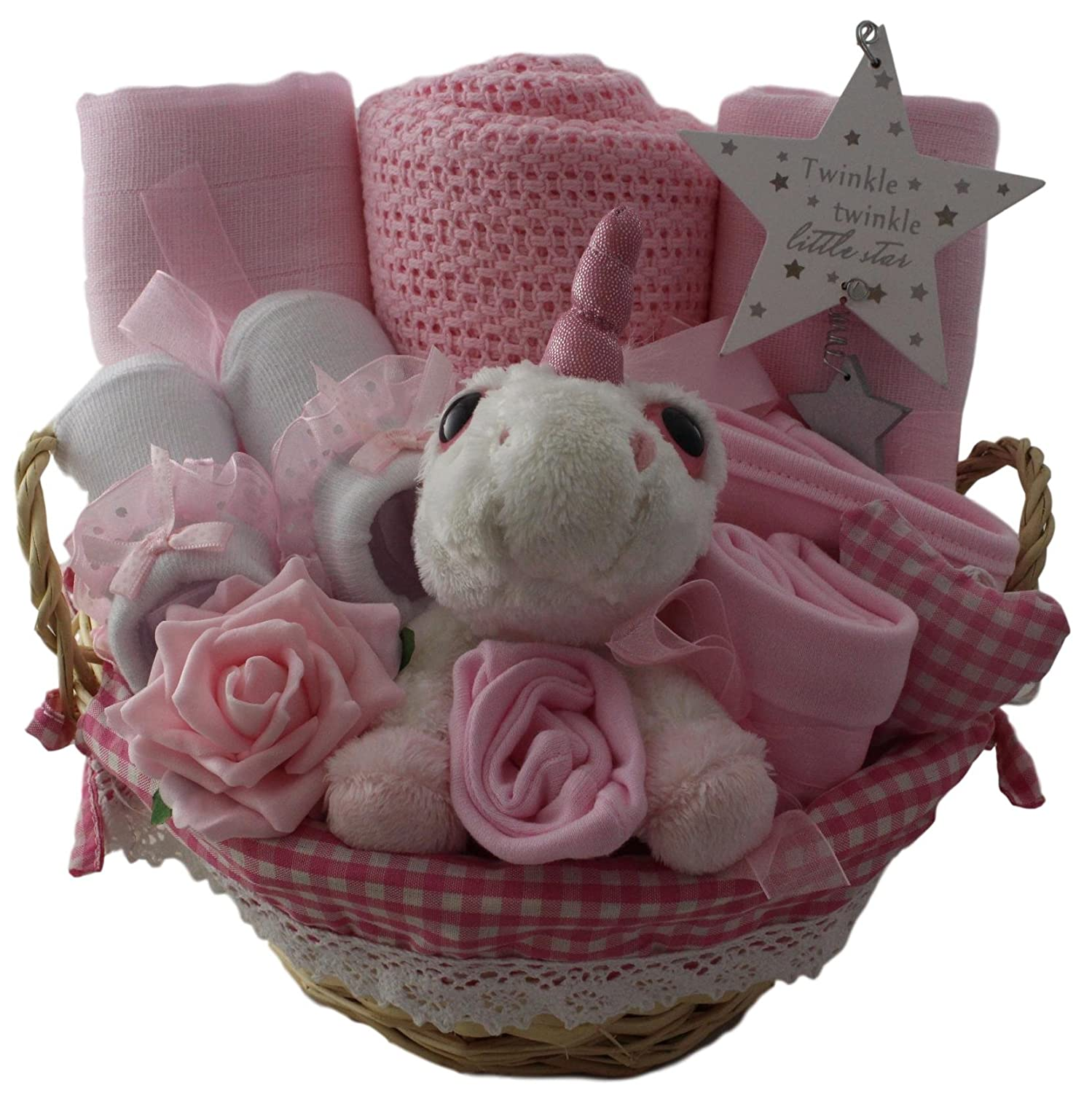 Baby girl gift basket baby girl gift hamper unicorn girl baby shower gift new baby girl gift Unique Baby Gift Baskets
