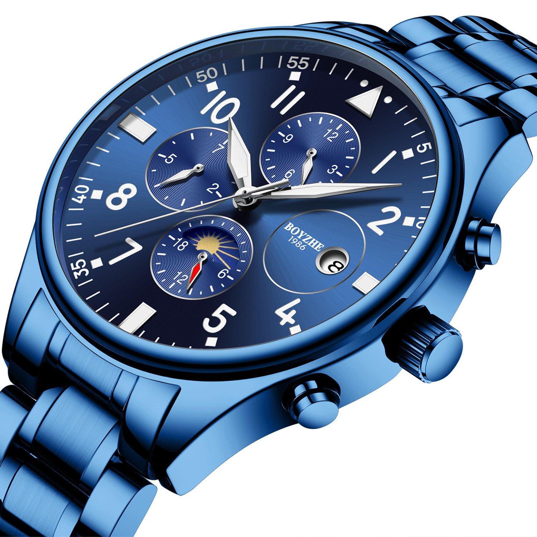 Men Sports Boyzhe Luxury Brand Automatic Mechanical Watches Waterproof For Luminous 0XwPN8knO