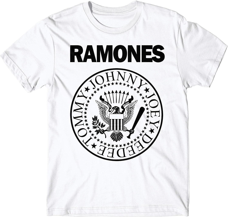 LaMAGLIERIA Camiseta Hombre - Ramones t-Shirt Punk Rock Band 100% algodón