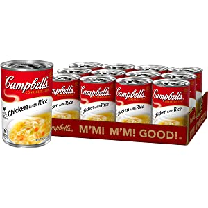 Campbell'sCondensed Chicken with Rice Soup, 10.5 Ounce (Pack of 12)