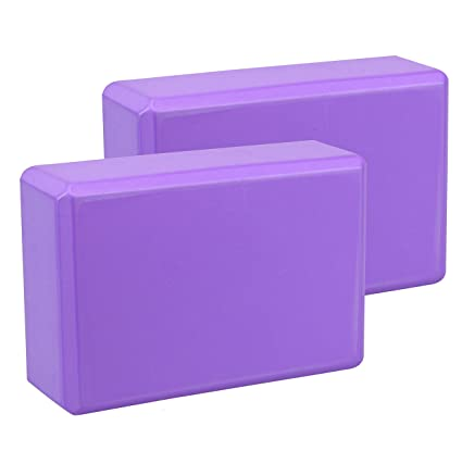 Exerz EXYB-002 High Density Yoga Blocks 2PK - Cómodo Fitness Foam Bricks, Antideslizante - Ligero y fácil de Usar