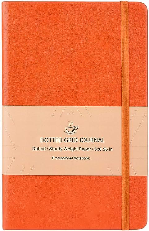 Amazon.com: Cuaderno Bullet Journal A5 naranja: Office Products