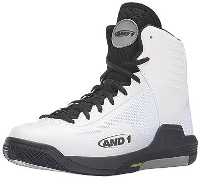 AND1 Men's Reaper-M Basketball Shoe, White/Black Limestone, ...