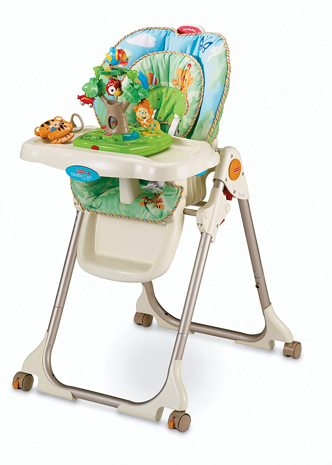 Fisher price precious planet high chair - Amazon Com Fisher Price Rainforest Healthy Care High Chair Childrens Highchairs Baby