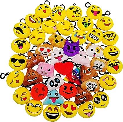 JZK 45 Piccoli giocattoli peluche 5CM mini emoji portachiavi
