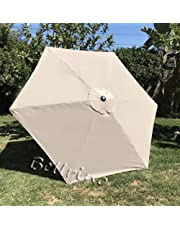 BELLRINO Decor Replacement Light Coffee/TAN Strong & Thick Umbrella Canopy for 9ft 6 Ribs Light Coffee/TAN (Canopy Only)