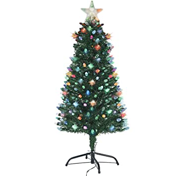 Holiday Essence Pre Lit Christmas Tree 4 Ft, Artificial Xmas Tree with  Prelit LED Multicolor - Amazon.com: Holiday Essence Pre Lit Christmas Tree 4 Ft, Artificial