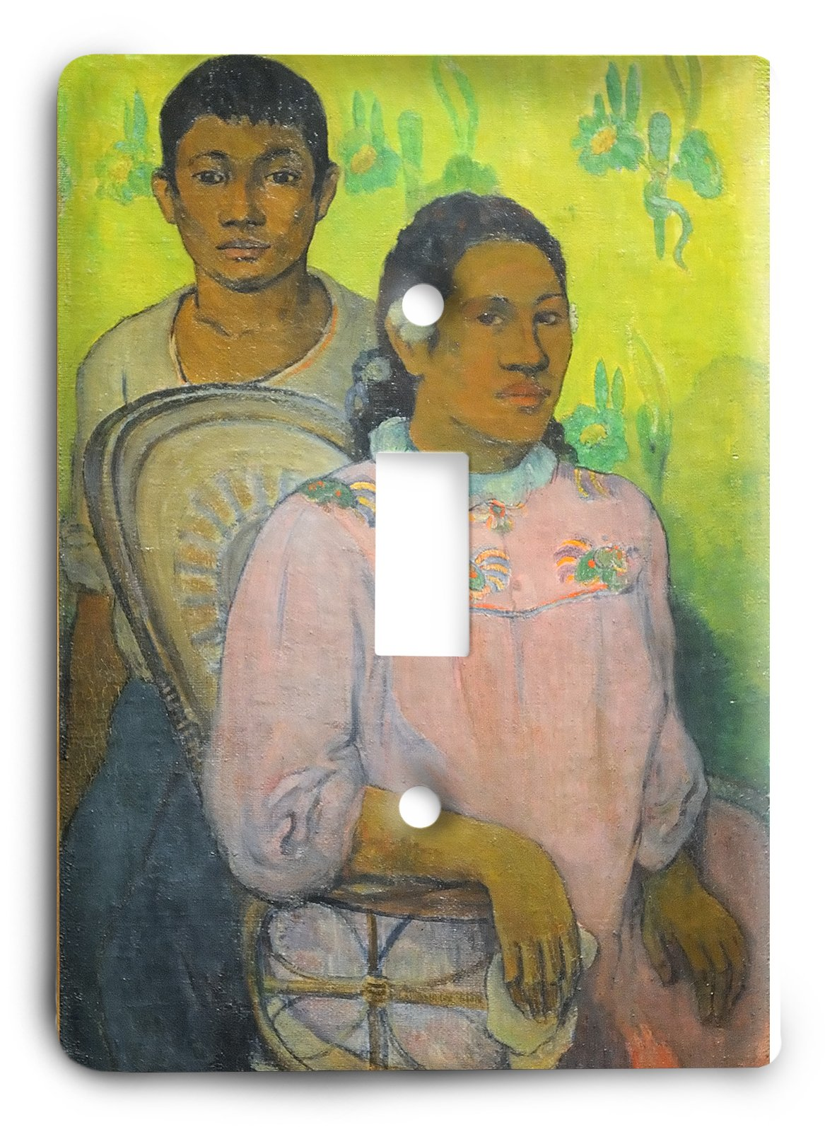 Paul Gauguin Noia I Noi Tahitian Woman And Boy 1899 Light Switch Cover