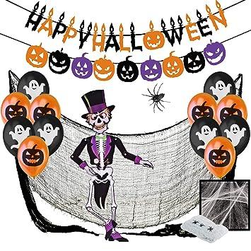 Jonami Decoraciones Halloween Set XXL - Banderas Banderinas Happy ...