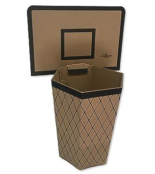Bullseye Office Cardboard Basketball Trash Can Theme   Perfect Small Waste  Basket Or Bin For College