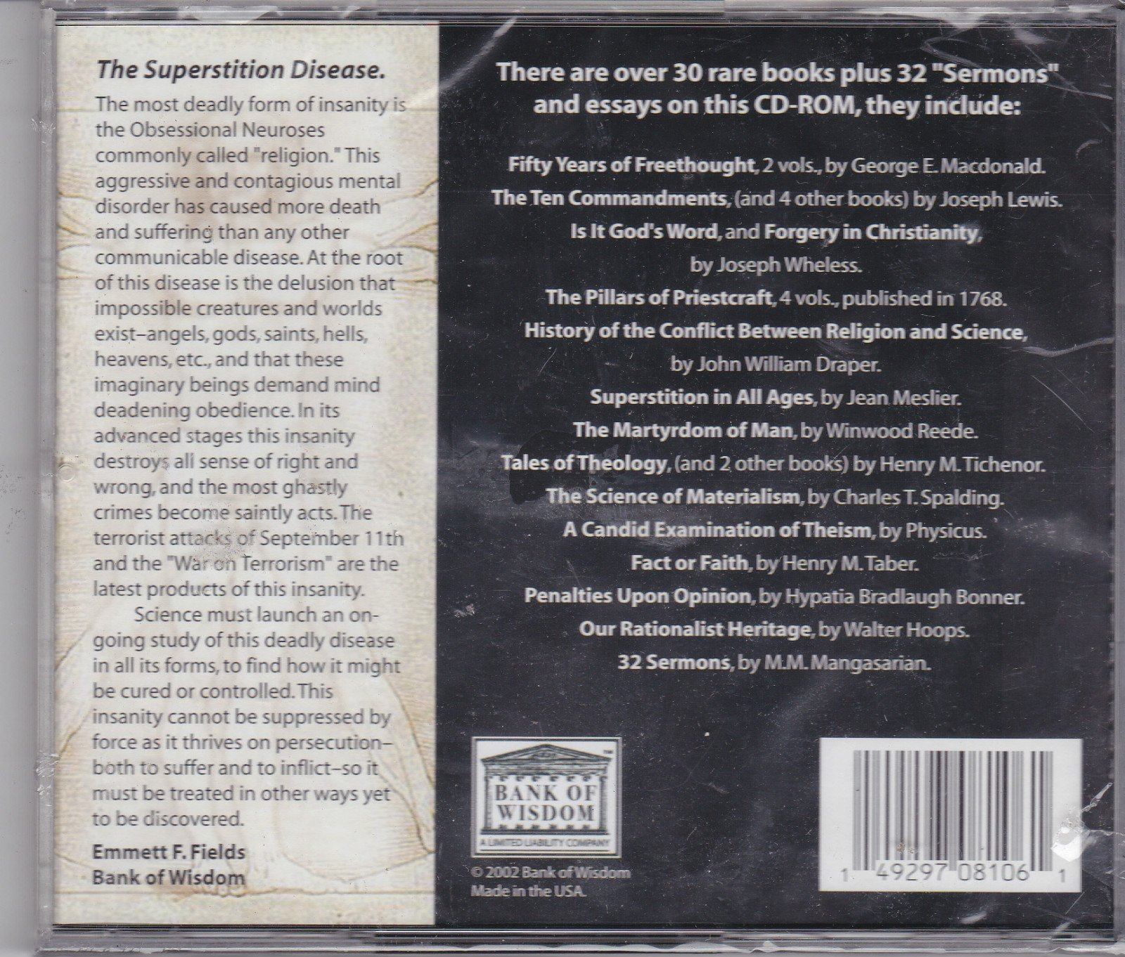 Download Atheism: The Struggle Against Superstition (30 complete rare books on CD-ROM) pdf epub