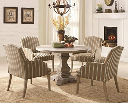 Amazon.com - Homelegance Euro Casual 5 Piece Round Pedestal ...