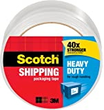 Scotch Heavy Duty Shipping Packaging Tape, 1.88 Inches x 54.6 Yards, 1 Roll (3850)