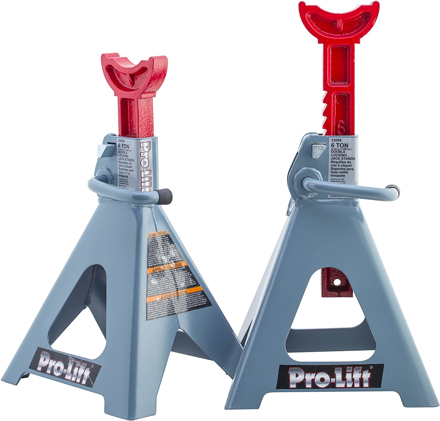 Pro-LifT T-6906D Double Pin Jack Stand - 6 Ton, 1 Pack