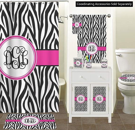 Rnk Shops Zebra Print Waste Basket Single Sided Black Personalized Home Kitchen Amazon Com