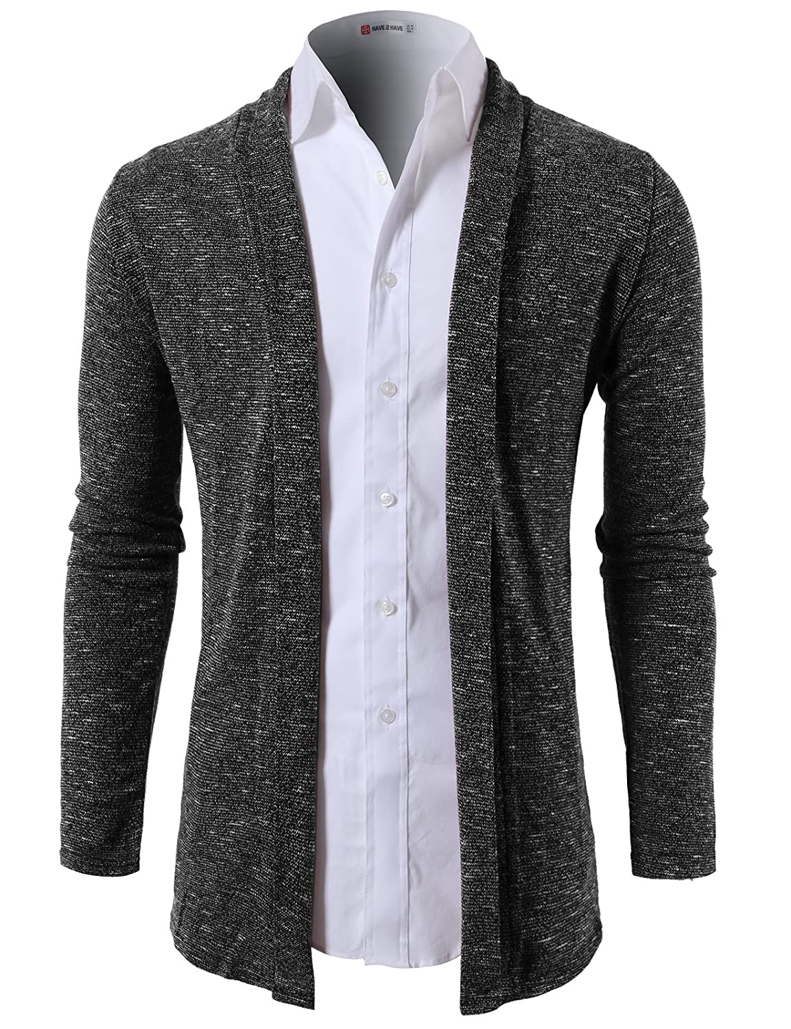 H2H Mens Fashion Slim Fit Open Front Long Sleeve Shawl Collar ...
