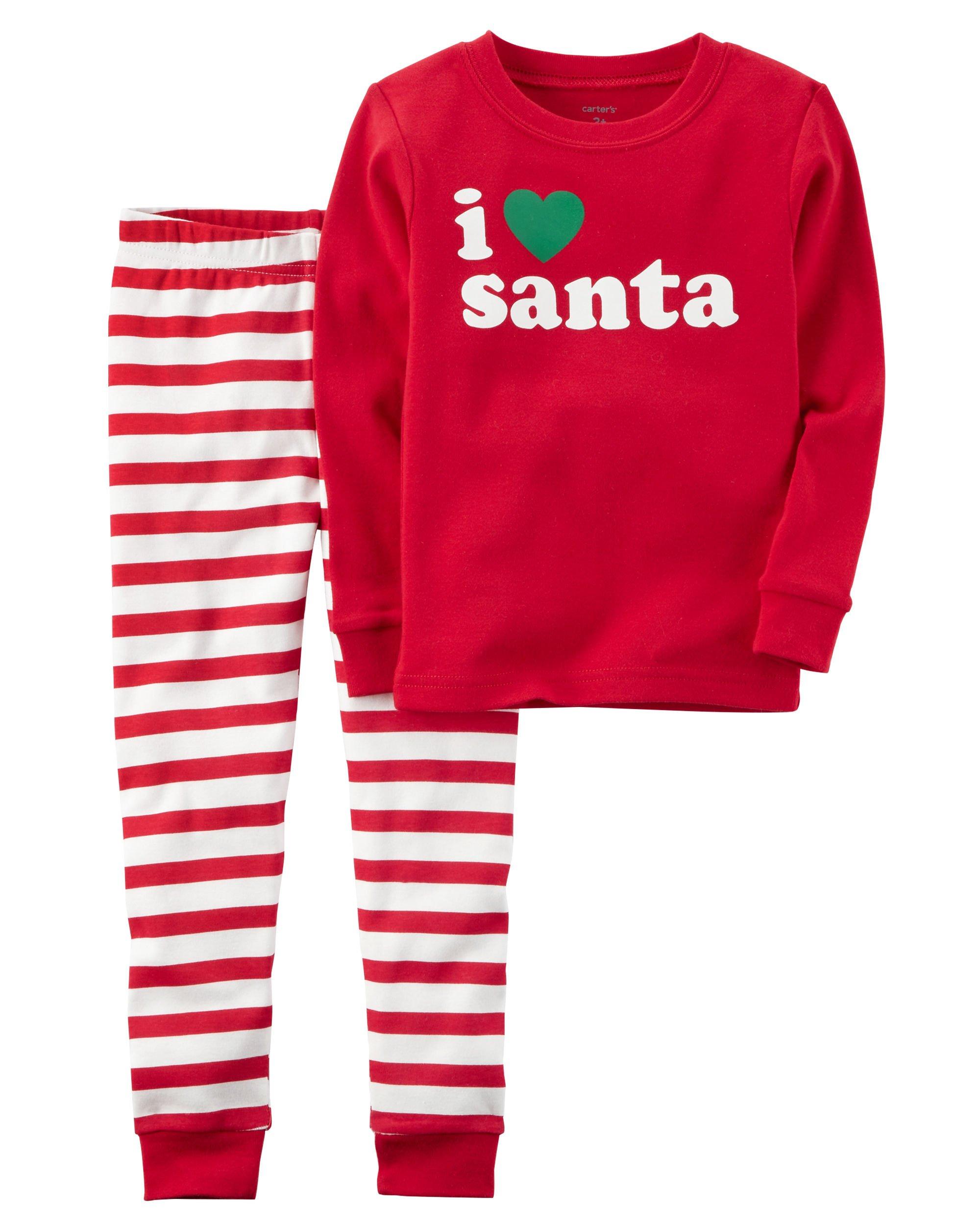 b30406c60461 Carter s Carters Baby Unisex Holiday 2-Piece Santa Snug Fit Cotton ...