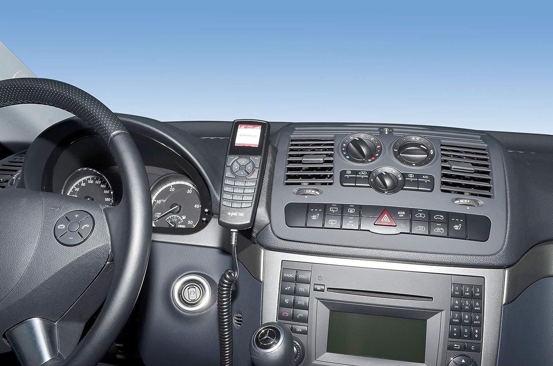 /Consola de tel/éfono para Kuda/ LHD para Mercedes Viano Trend /& Ambiente a partir de 2006/piel sint/ética NEGRO