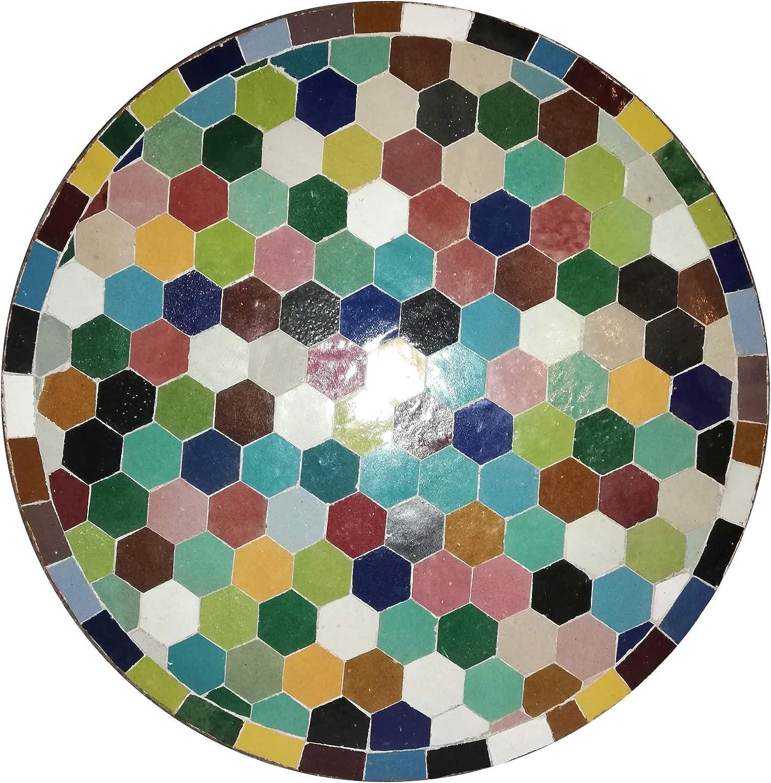 L Orient Mesa Mosaico Redonda 40 cm König Ciudad FES gefertigt ...