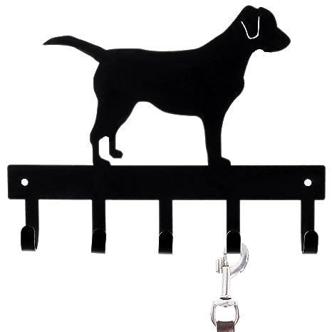 Amazon.com: MyGift – Correa Negro Perro Labrador silueta ...