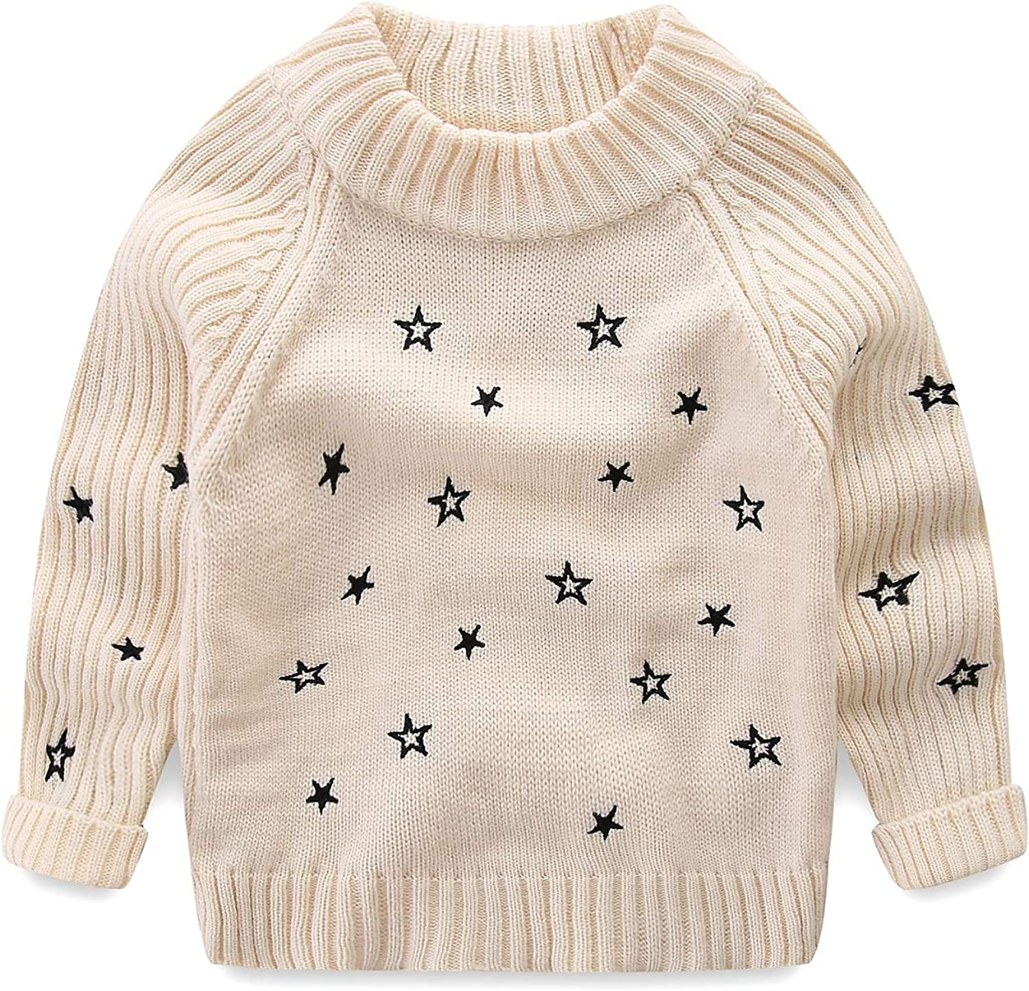 Amazon.com: Mud Kingdom Toddler Girls Pullover Sweaters Cute Embroidered  Stars: Clothing