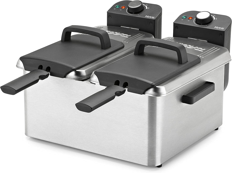Nova Double Fryer Freidora doble, 3600 W, Plateado: Amazon.es: Hogar